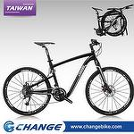 "Folding bike-Super Light CHANGE 26"" Hybrid 10.5kg DF-611MB, 100% Made in Taiwan,Size:19"