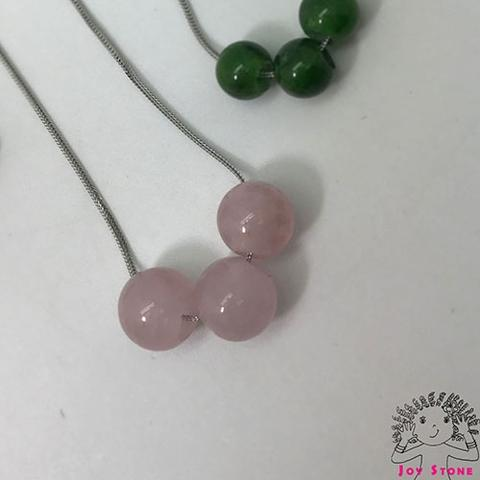 Rose Quartz Devine Bead Pendant Necklace