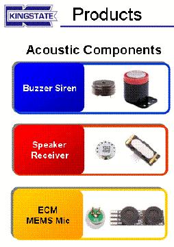 Taiwan Piezo Buzzers, Magnetic Buzzers, Micro Speakers