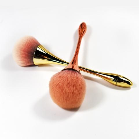 synthetic hair plastic handle powder cosmetic makeup brush