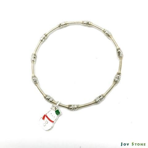 圣诞派对女王银珠手链 - 雪人 - 双面图案-Paper Bubble Wrap