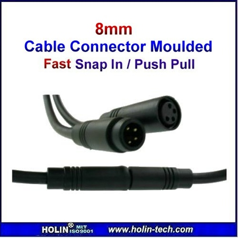 Push Pull Or Drag Trade In >> Taiwan 8 mm Cable Connector Moulded, Snap-In | Taiwantrade
