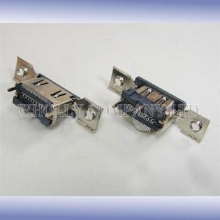 Taiwan HDMI type A receptacle vertical SMT type with screw