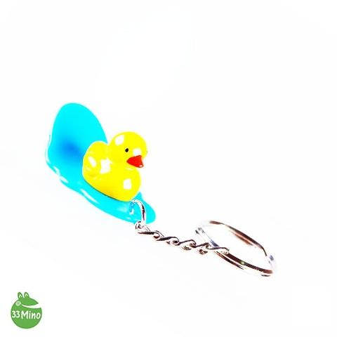 YELLOW DUCK CHARACTER SURFING BOARD KEY CHAIN RANDOM COLOR 3