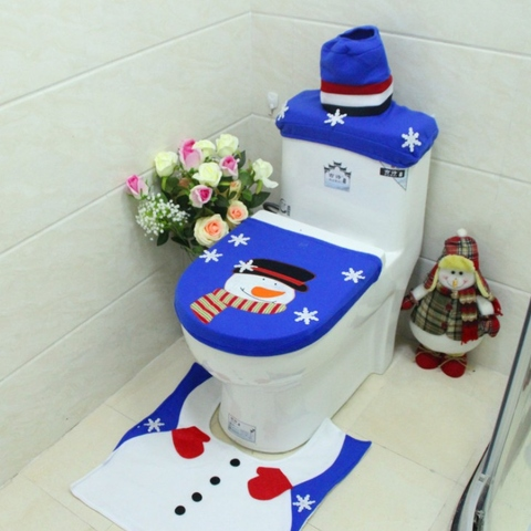 Phenomenal Taiwan 3Pc Christmas Festive Snowman Toilet Seat Cover Pabps2019 Chair Design Images Pabps2019Com