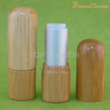 Bamboo lipstick packaging