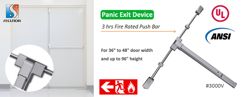 ANSI UL Panic Exit Device Push Bar