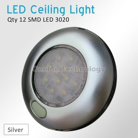 Rv 3 Quot Led Round Light With Switch Silver Gee Mei