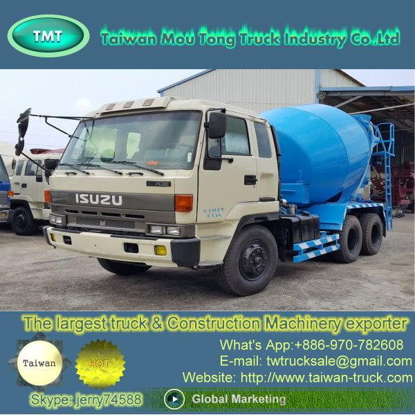 Taiwan (IS-011 Used ISUZU cement truck ,concrete mixer truck, japan