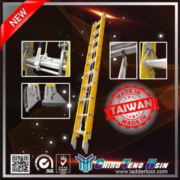 Taiwan FX Fiberglass D-rung Extension Ladder | CHIAO TENG