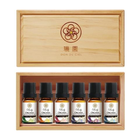 Orchid aromatherapy body massage essential oil set