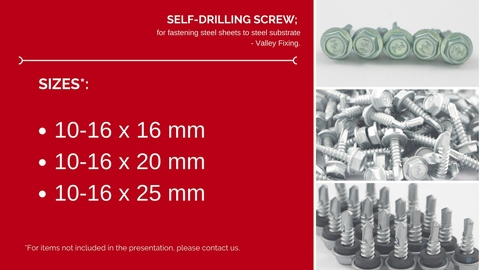 Roofing Screw- Valley Fixing
