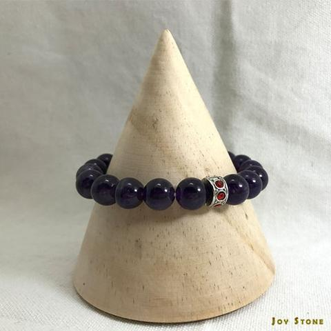 Amethyst Bracelet 10mm Beaded Natural Stone