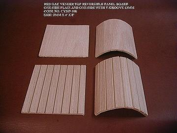 Taiwan Reversible Flexible Wooden Panel With V Groove