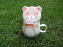 [ Ceramic Promotional Mug ] Chinese Zodiac Animals Cup w/ Lid- Rat