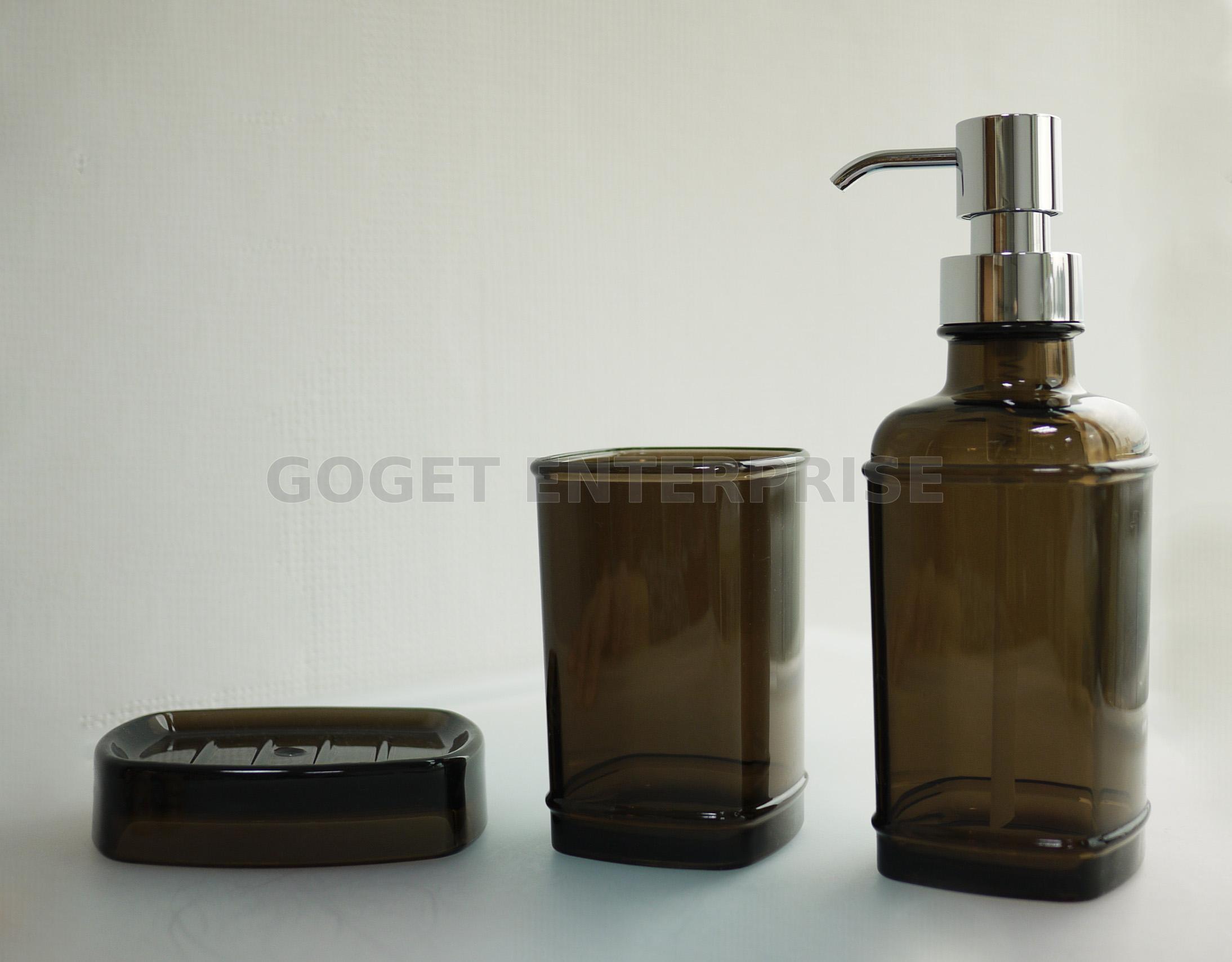 Modern Square Plastic Refillable Liquid Soap Dispenser Pump ...