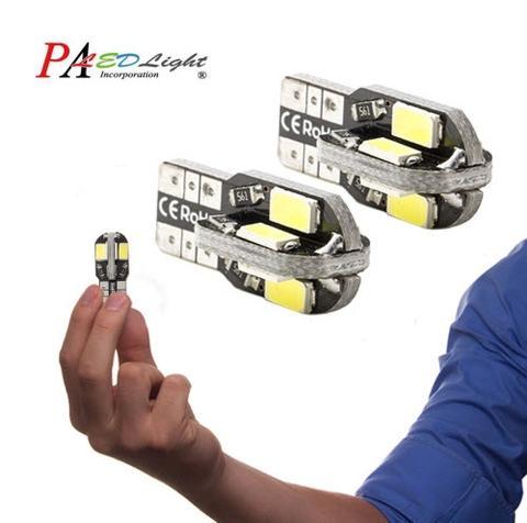 PA LED 10pcs x LED Brake Light Canbus T10 W5W 360 Degree Super Bright White Canbus 5630 5730 SMD Lamps 12V