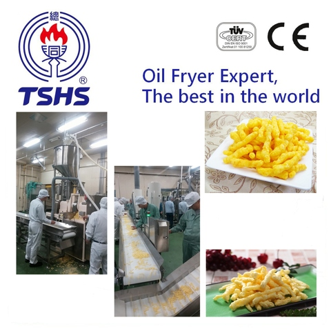 2017 Taiwan Industrial Automatic Nik Naks Fried Equipment