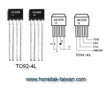 1 LED Blinking IC HK3258, TO92-4L