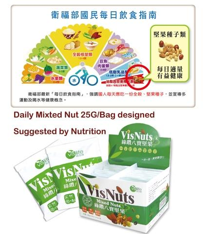 Assorted Mixed Nut in 25G for Daily Healthy Care