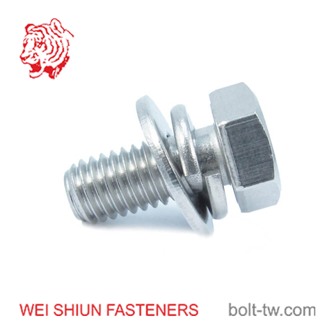 Bolt SUS316-hex bolt with washer-M6x15 Bolt