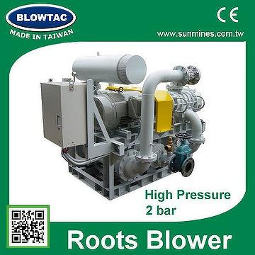 MRT-400 with CE 3 phase AC power high capacity air blowers PD blower for wastewater treatment