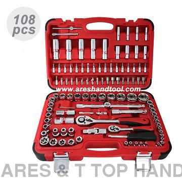 "108PCS 1/4""+1/2' DR. SOCKET  WRENCH  SET"