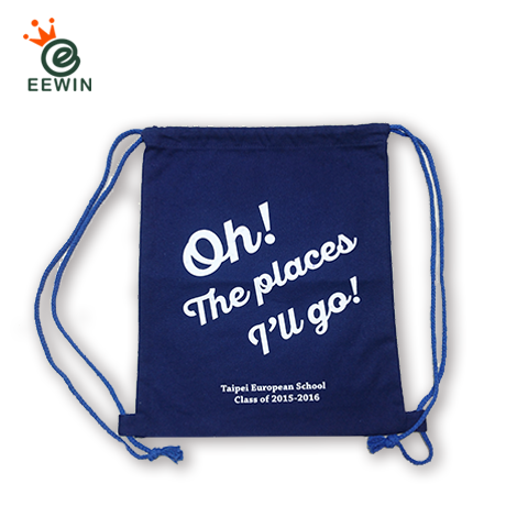 8f3a77bcd708 Customized Canvas Drawstring Backpack One Color Print With Logo Taiwan  Wholesale