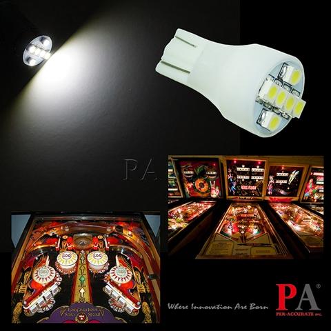 LED para máquina de jogo de pinball 6.3V 12V T10 T15 Entretenimento LED Pinball 6SMD 3528 PA