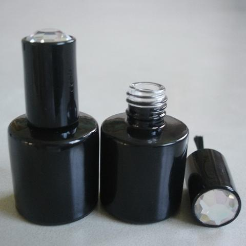 8ml, 10ml Round Black Glass Gel Polish Bottle