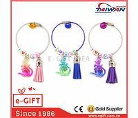 Kangaroo Alphabet Beads Tassel Wire Key Ring
