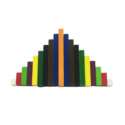 1-10cm Wooden Cuisenaire Rods Bars Mixed A