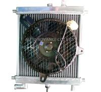 Radiator with fan for generator of hybrid car