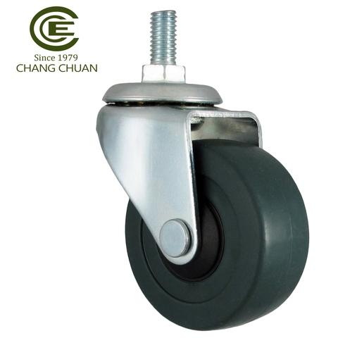 50mm Furniture Rubber Threaded Rod Casters Wheels