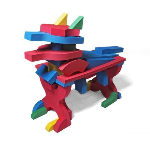 EVA Big size building block set C 21 shapes 262 pcs