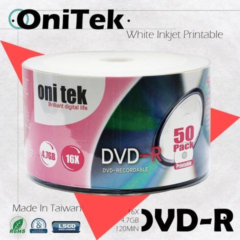 OniTek DVD-R 16X White Printable /made in Taiwan