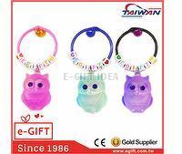 Owl Alphabet Beads Keychain