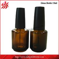 15ml Amber Glass Nail Polish Bottle