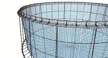 Extra wide Stanchion Predator-Proof Cage