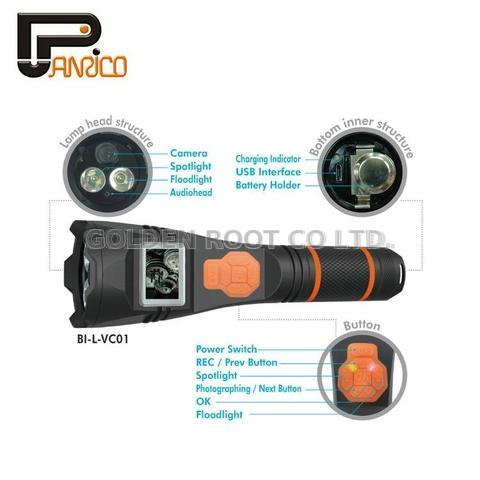 Police Security LED Flashlight DVR Camera Torch