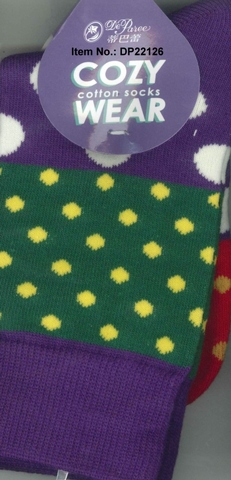 Socks, Deparee Fashion Cozy Block Dotted Crew Socks