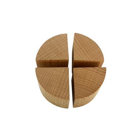 60*30mm Plain Wood Quarter Spheres Blocks