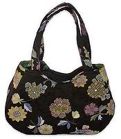 Handbag made of flowery cloth