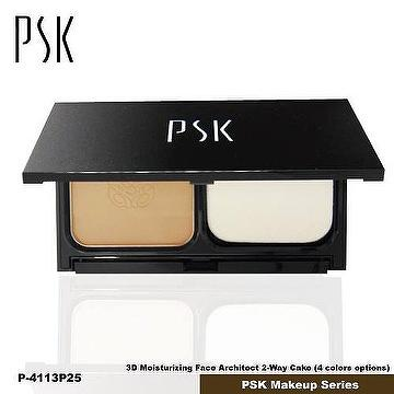 P4113_P25 Color_PSK 3D Moisturizing Face Architect 2-Way Cake_Made in Taiwan PSK Makeup