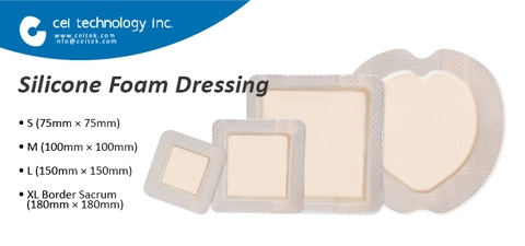 Taiwan Hospital Disposable Medical Wound Care Silicone Foam