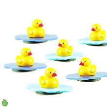 Pond Magnets Yellow Duck Character Stationery Random Color Delivery Lot of 3