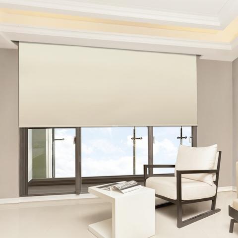 Cordless Window Roller Blind 165x185cm,Polyester, Rich Khaki