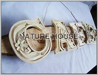 Nature Wood Carved Alphabets