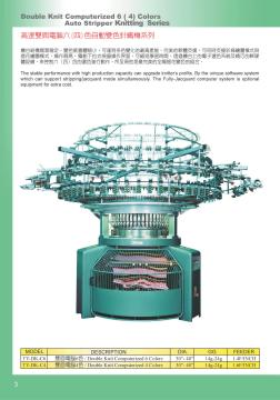 Double knit auto striper machine