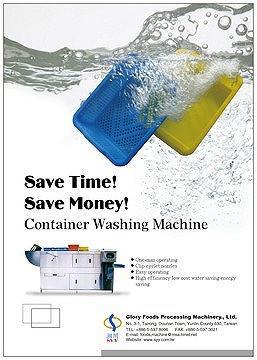 Container Washing Machine